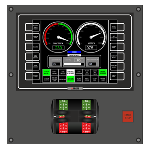 FPP Operator Panel as installed on bridge and control room for one FPP thruster