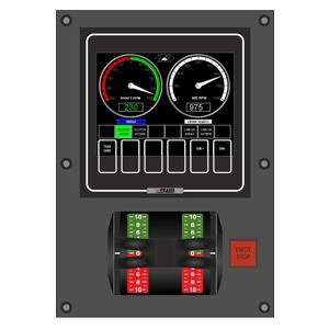 PCS Operator Panel as installed on bridge wing